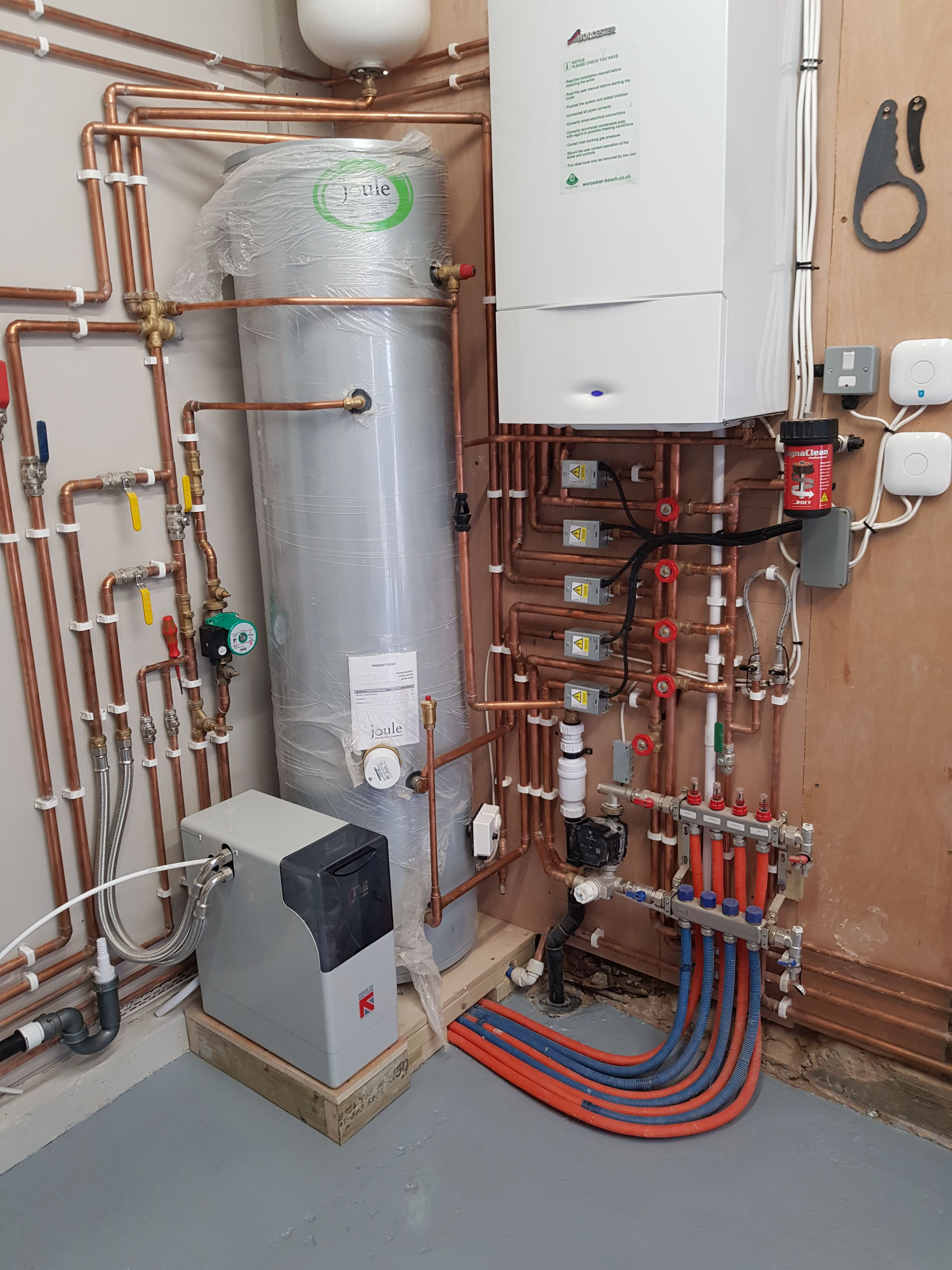 Plumber Heating Water Boiler Professional Work With Images