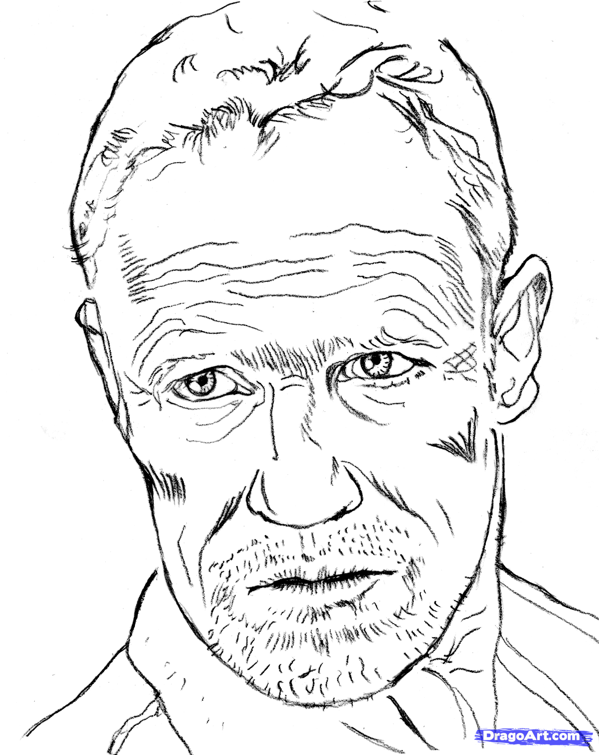 The Walking Dead Daryl Coloring Pages