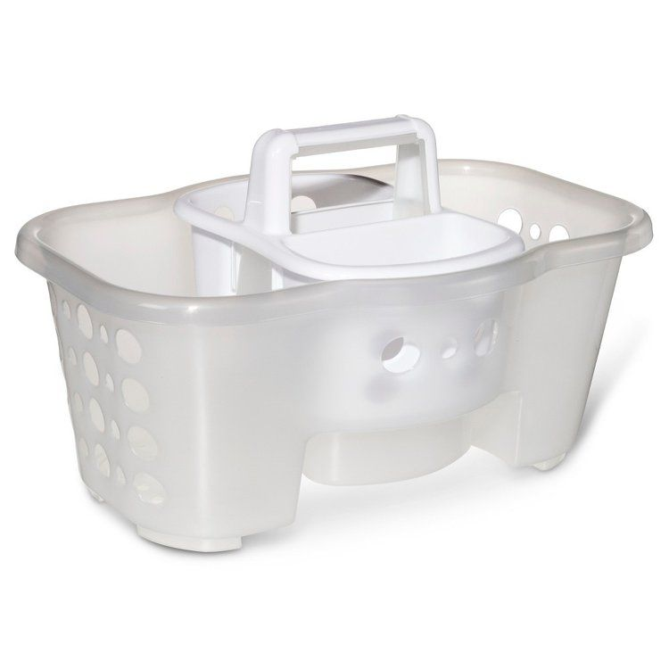 Room Essentials 2 In 1 Shower Caddy   Clear Part 84