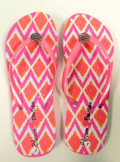 21b82cb751e859 Blossom Boutique Embellished Flip Flops