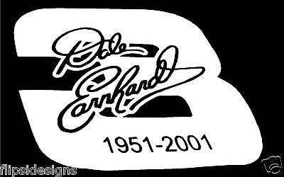 DECAL DALE EARNHARDT SR WINDOWS CARS TRUCKS VINYL BUMPER STICKERS