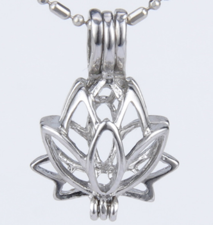 Silver plated pearl cage lotus pendant holds 5 7 mm pearls silver plated pearl cage lotus pendant holds 5 7 mm pearls mozeypictures Gallery