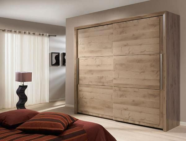 Modern gautier sarlat sliding door wardrobe in oak wood effect also rh pinterest