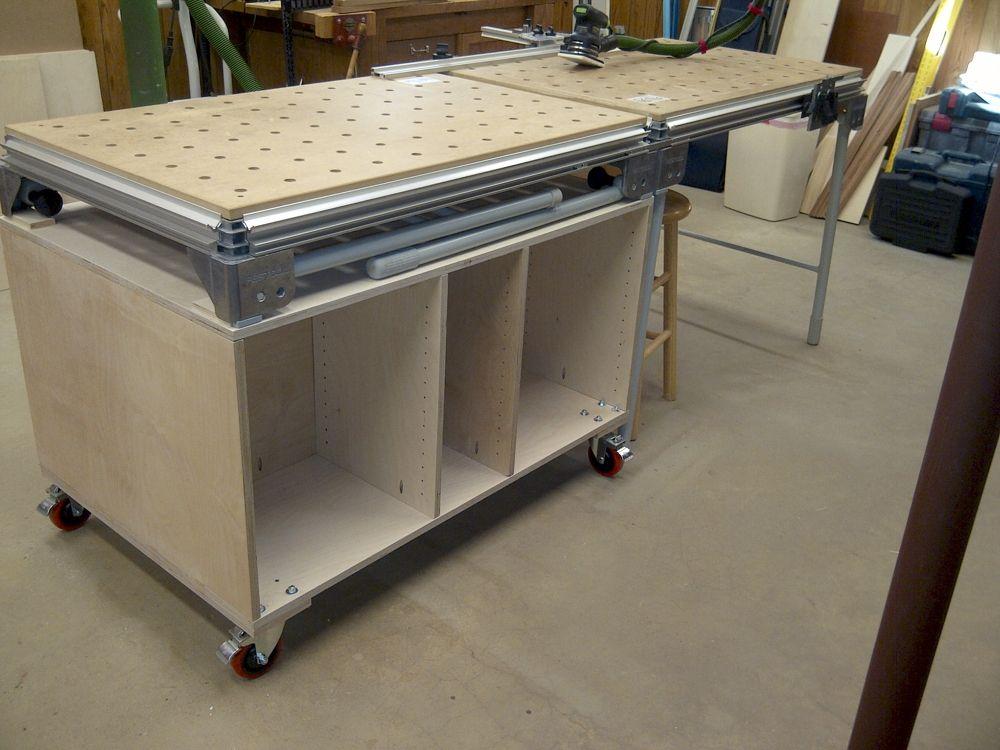 Plans for mft3 sysport cabinet sparktrician festool for Table festool