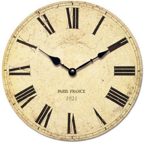 Shabby Chic French Style Wall Clock In Antique Cream Country House Interior Kitchen