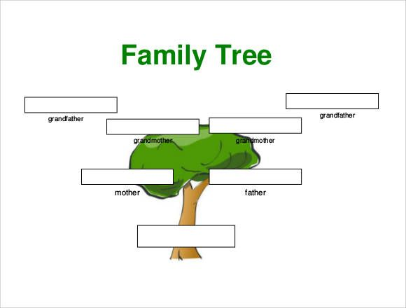 Small Family Tree Template Family Tree Templates Pinterest