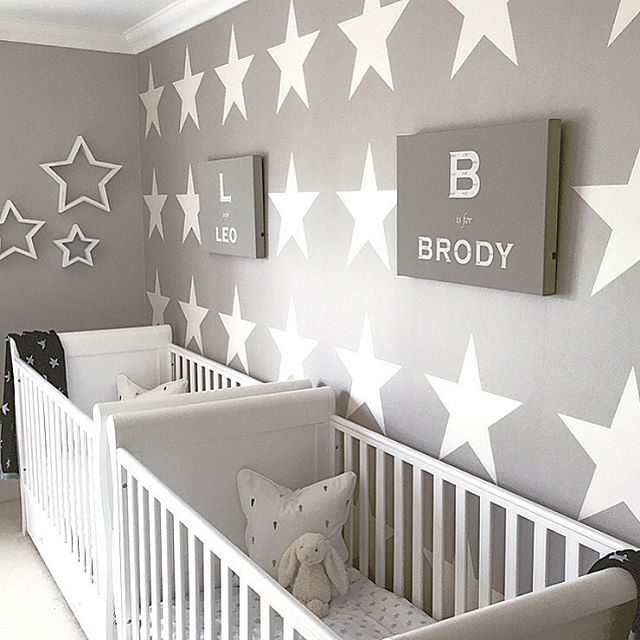 An Adorable Nursery For Two Shining Stars️Thanks For The Tag   Home Decor  For Kids And Interior Design Ideas For Children, Toddler Room Ideas For ...