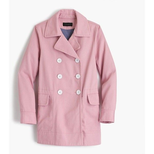 J.Crew Peacoat ($170) ❤ liked on Polyvore featuring outerwear ...
