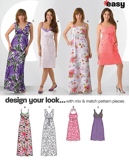 15c65d92d77 New Look 6980 - Misses  Design Your Look Dresses