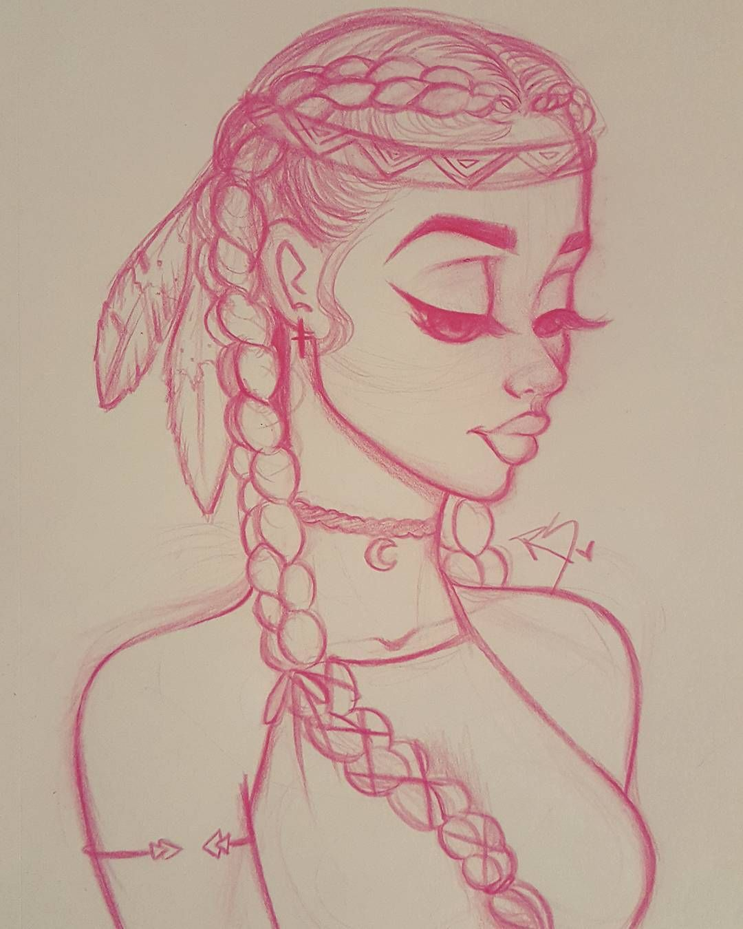 I really love me some cute tribal accessories so this is a Teach me how to draw a flower