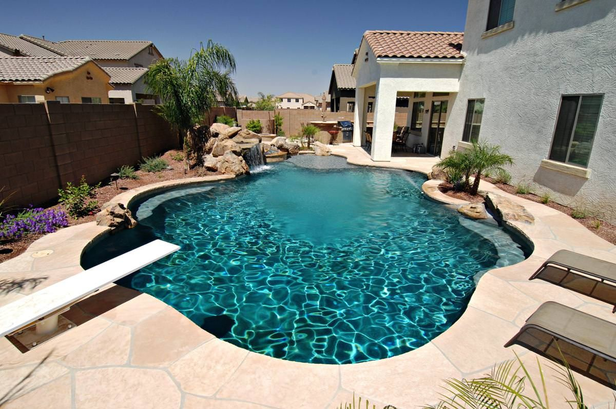 Backyard Landscaping Ideas Swimming Pool Design   Homesthetics   Inspiring  Ideas For Your Home.