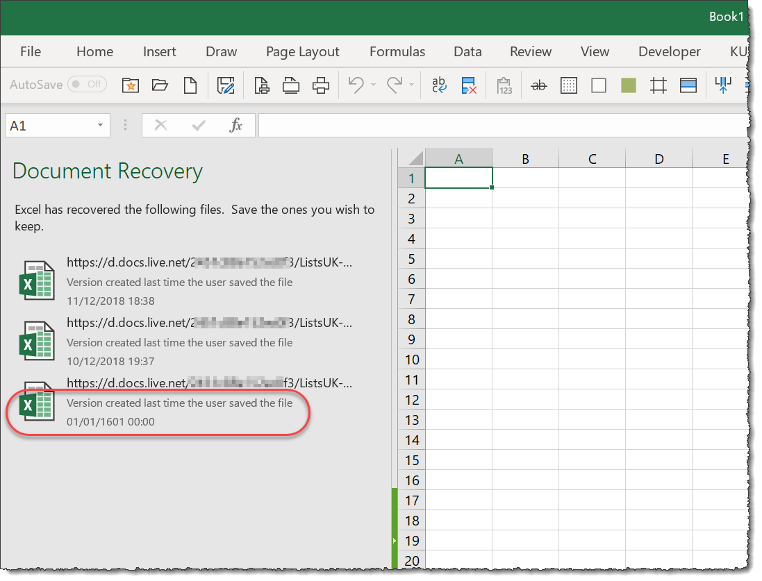Impressive Document Recovery From Microsoft Excel All