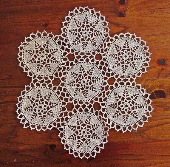 Vintage napperon au Crochet napperon au Crochet 80 par TsveteHeArt #decorateshop