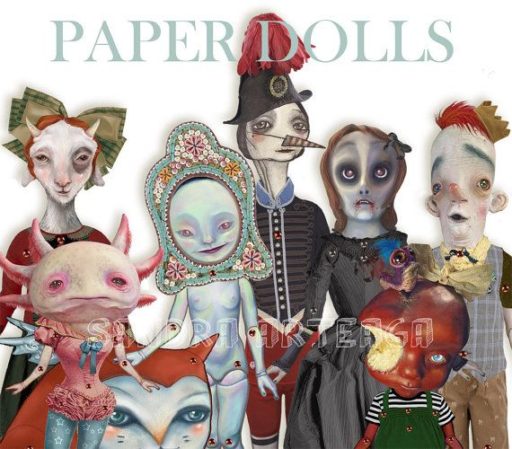 Anipoma Nemorosa    articulated paper doll 157 by SandraArteagA, $18.00