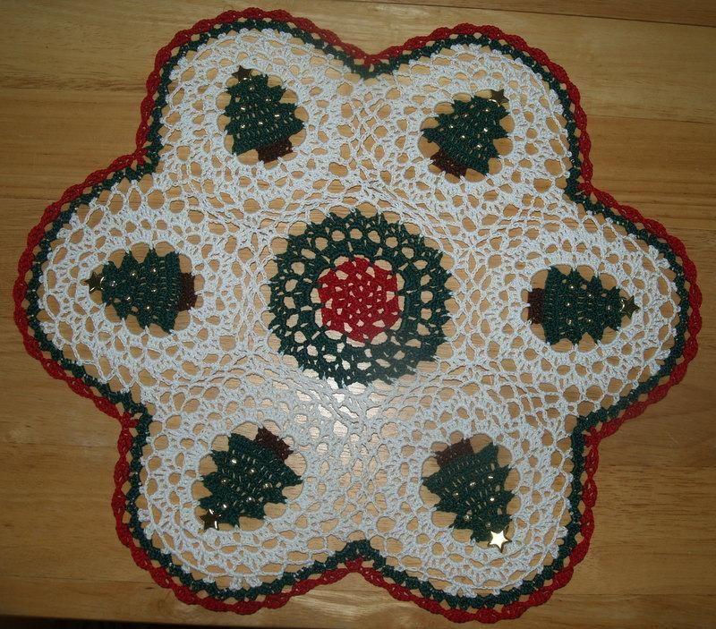 Christmas Trees Tree Crochet Doily Doilies Crochet Crochet And