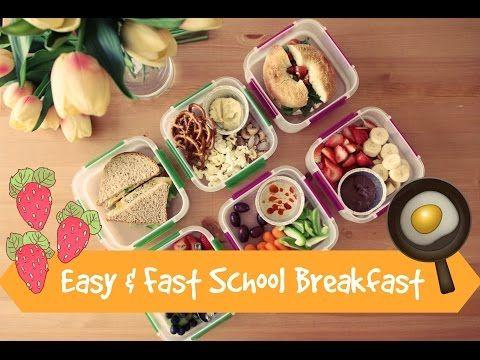 أفكار سريعة وسهلة لفطور الدوام مدرسة جامعة بالتعاون مع Matbakh Bassoum شيوكا Youtube School Breakfast Food School Lunch Box
