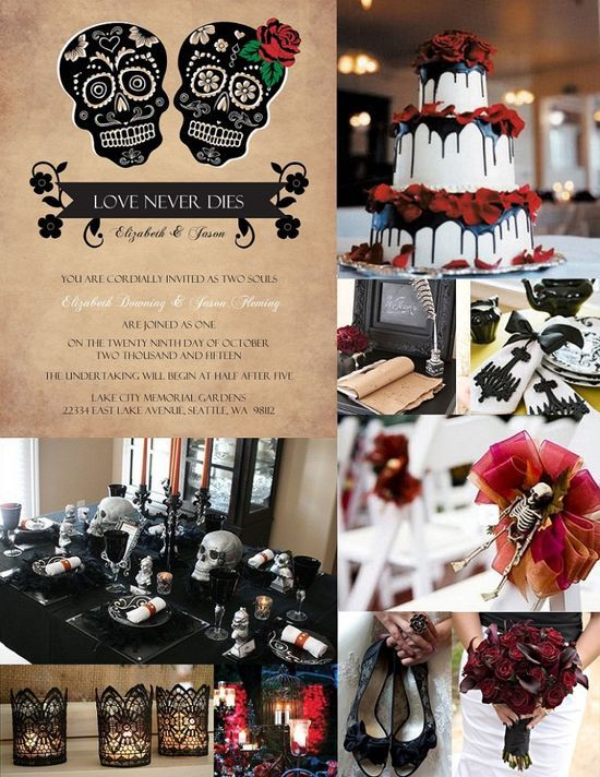 Halloween Wedding Ideas from | http://yourweddingideasplanning ...