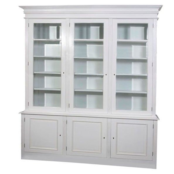 Claude French Provincial Black White Cream Or Walnut Painted Polished Display Cabinet Bookcase Custom Sizes And Colours