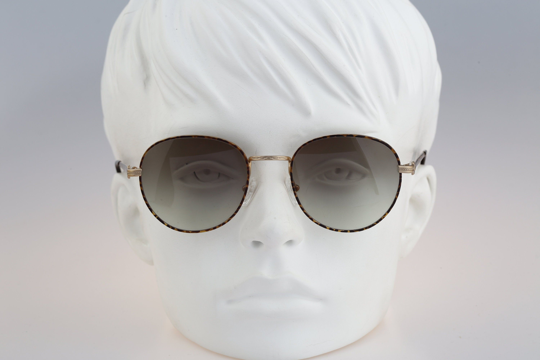Vintage 90s steampunk silver /& gold big cat eye sunglasses women NOS Derapage 926