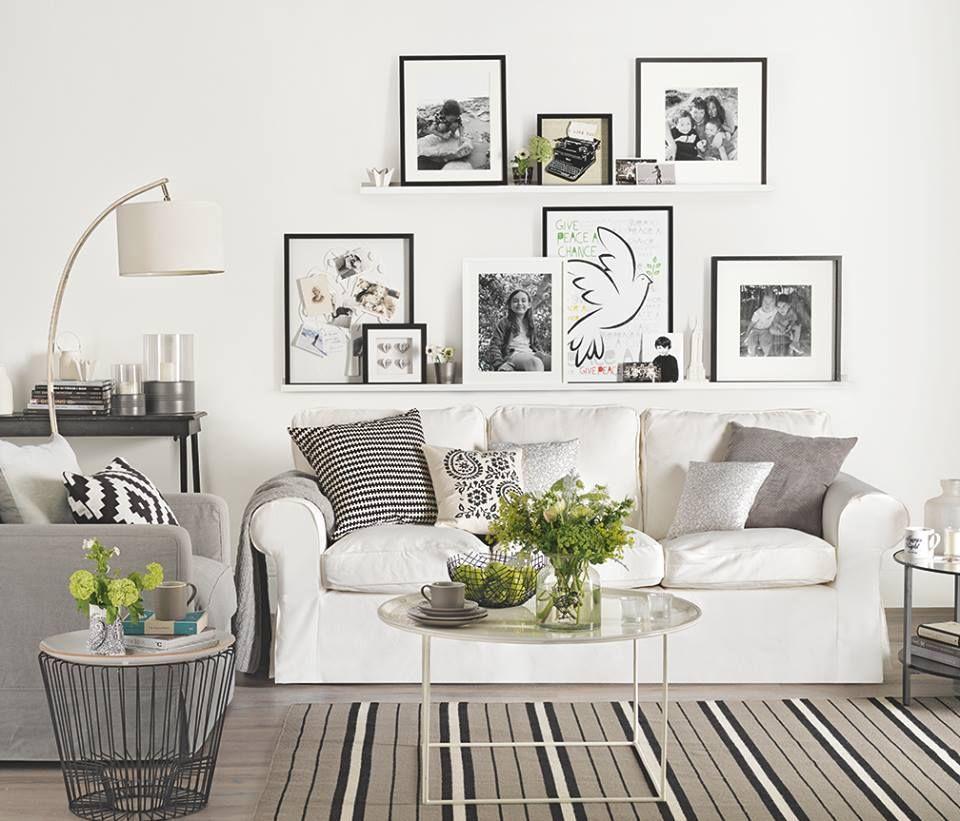 Timeline Photos Ideal Home Magazine Facebook Ikea Living Room Modern White Living Room Couch Decor #white #living #room #shelves