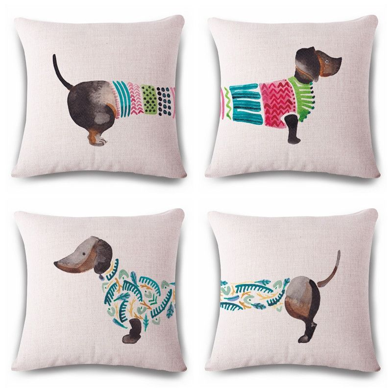 Lizard Doxie Extra Long Dachshund Lover Weiner Dachie Cushion Cover Adorable Extra Long Decorative Pillow