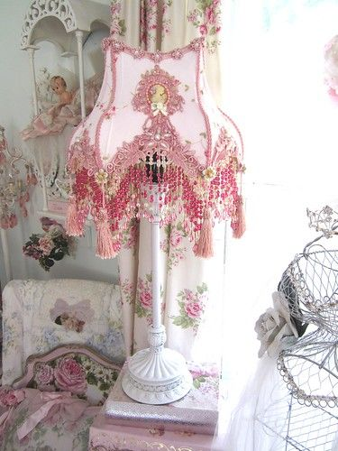 Photo of Pink Victorian Lampshade