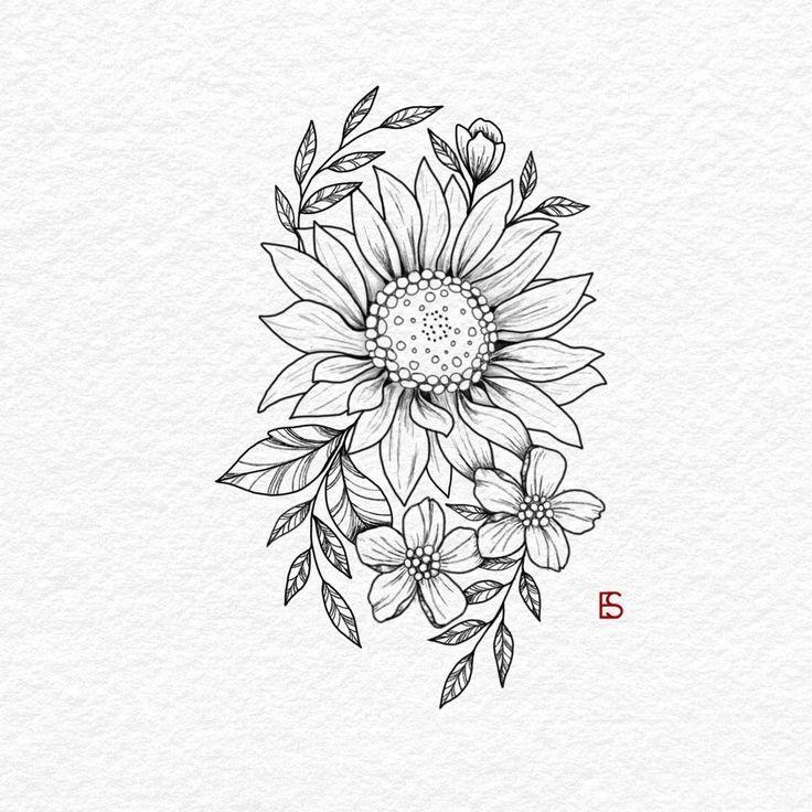 Pin By Samantha Silva On Tattoo Ideas Sunflower Tattoo Design