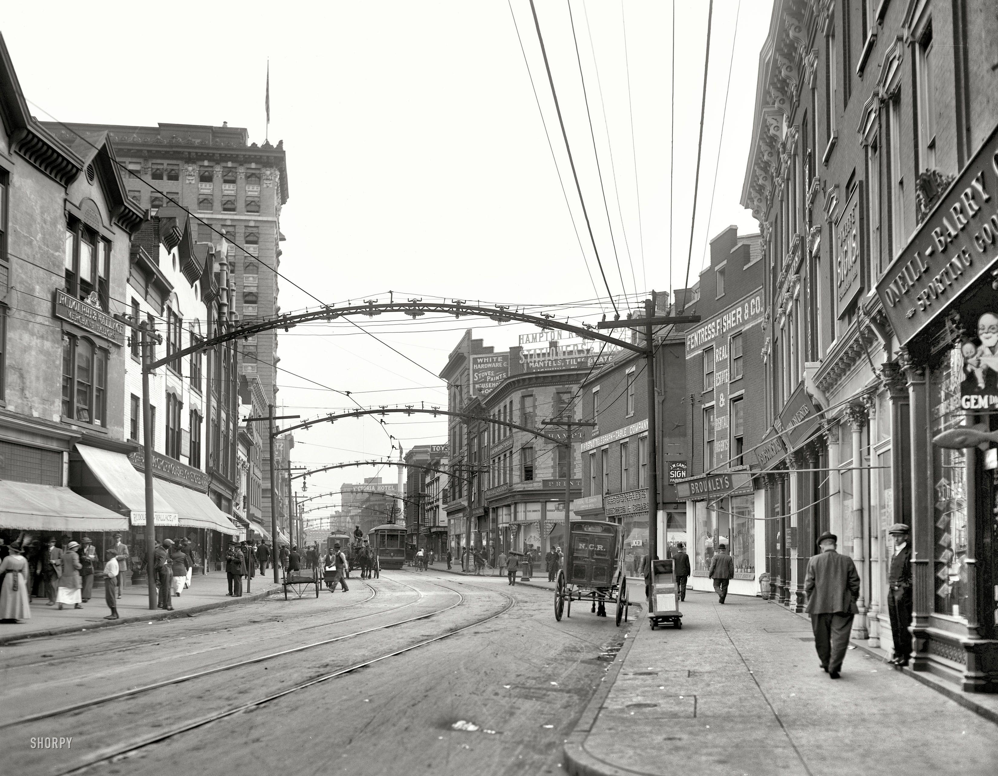 norfolk virginia circa 1917 quotmain streetquot the port