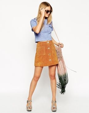 If suede skirts & jackets weren't enough (they're not) then get a loada this suede top... What a colour!