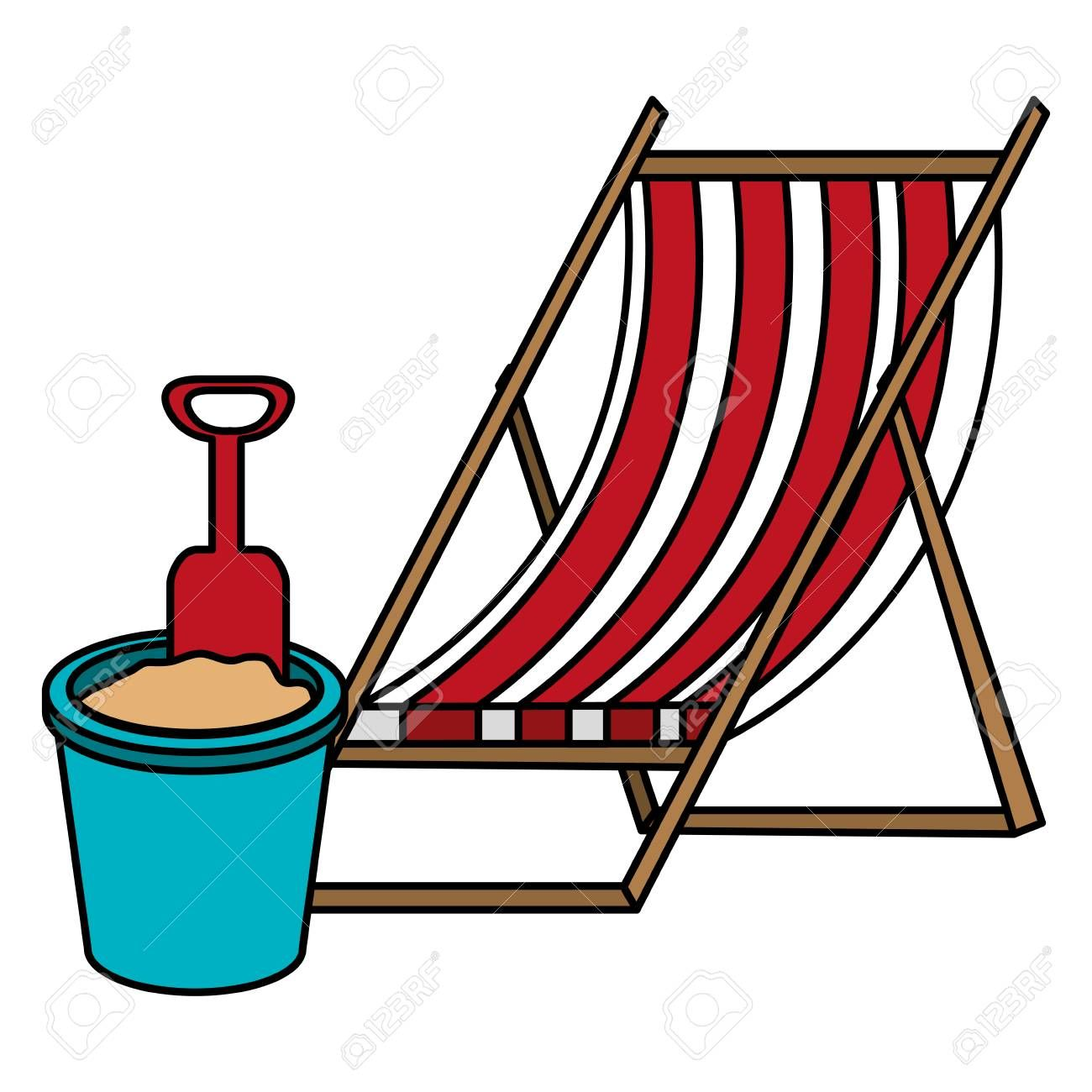 Wooden Beach Chair And Sand Bucket Vector Illustration Design Spon Chair Sand Wooden Beach Illustr In 2020 Wooden Beach Chairs Outdoor Chairs Sand Buckets