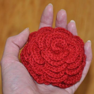 Crochet Pattern large rose