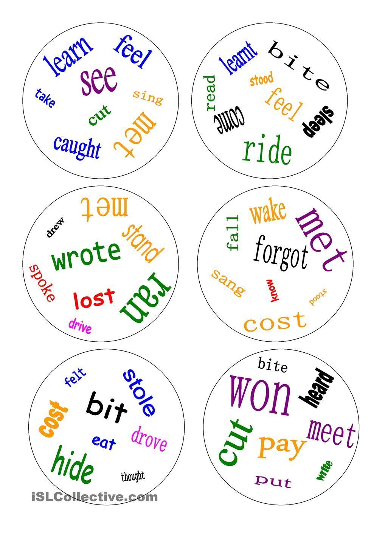 Dobble - irregular verbs - a game | Gamefication | Pinterest | Englisch