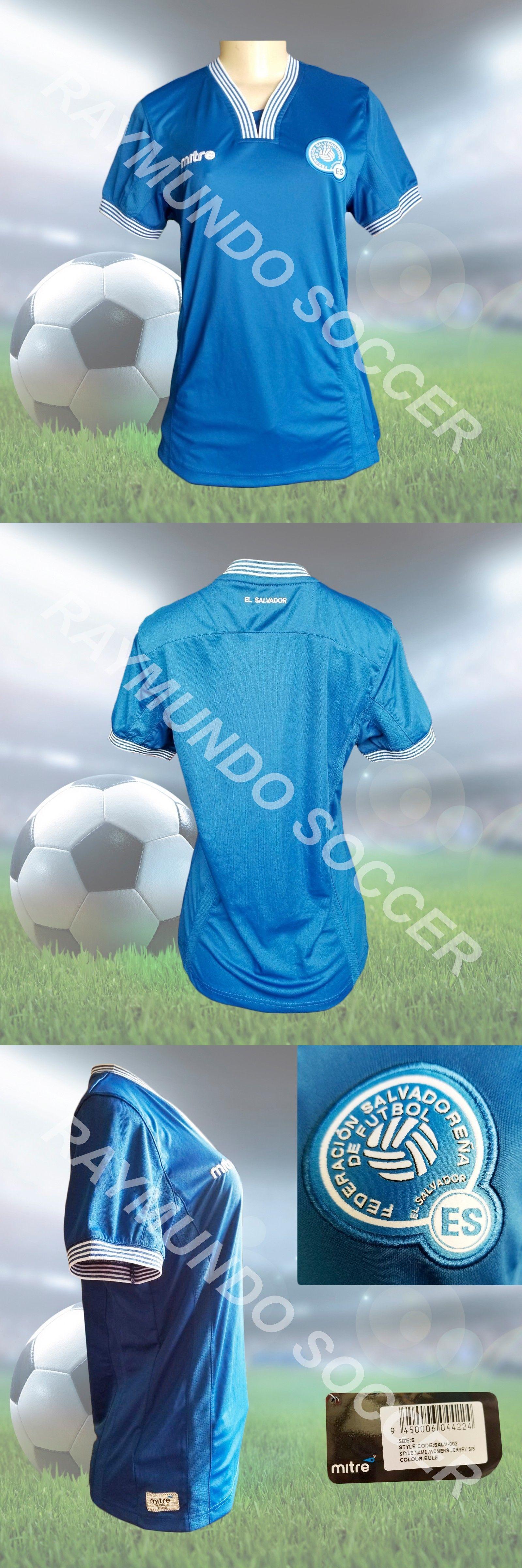16caad96aaa Women 159098  Women S Mitre El Salvador Home Soccer Jersey -  BUY IT ...