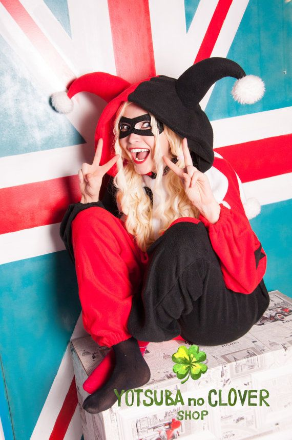 92fa73be4ab3 Harley Quinn inspired kigurumi. Mask is included! (adult onesie ...
