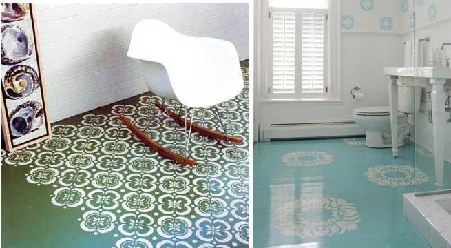 Estarcidos en el suelo decoracion escaleras y suelos for Suelo resina epoxi vivienda
