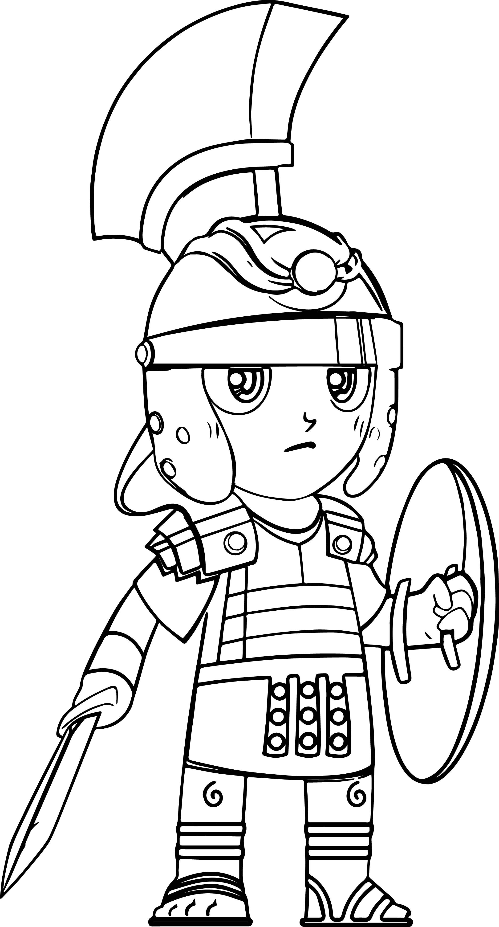 Cool Cartoon Roman Sol R Pictures Coloring Page