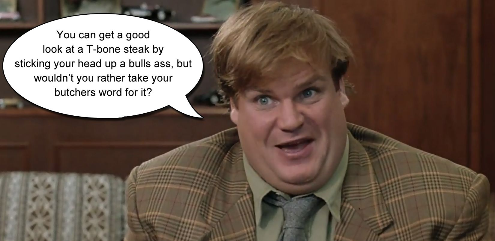 Chris Farley in Tommy Boy sales quote | Favorite movie ...