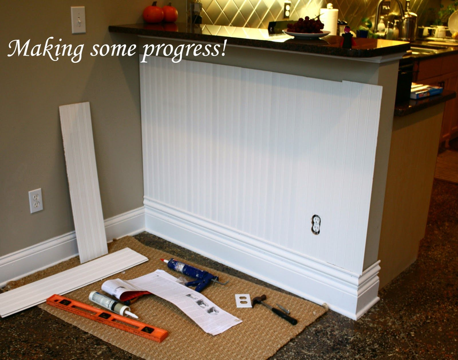 wainscoting on kitchen island - Google Search | Ideas | Pinterest
