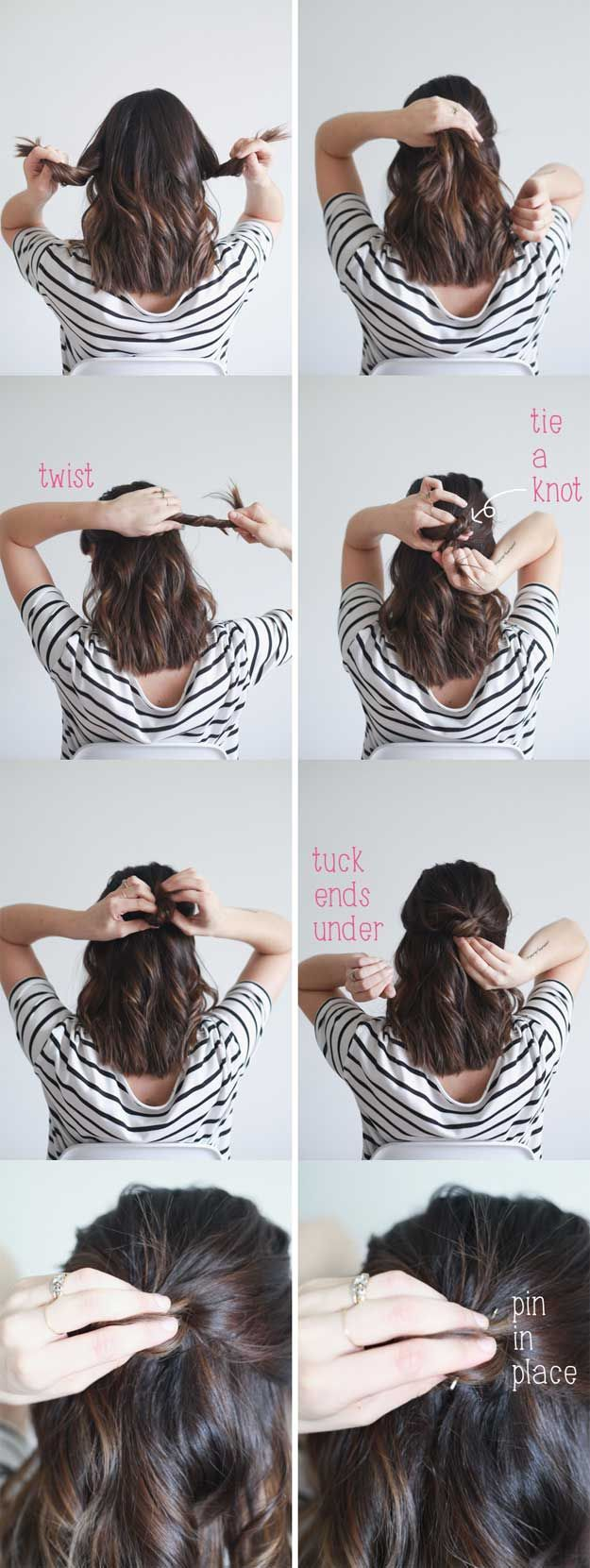 Best minute hairstyles quick half up hair tutorial for school