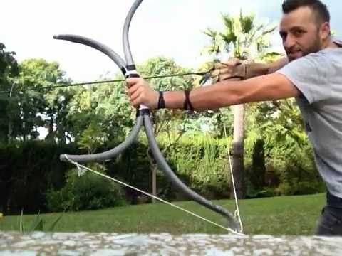 Pvc longbow and a little surprise youtube archery for Bow made out of pvc pipe