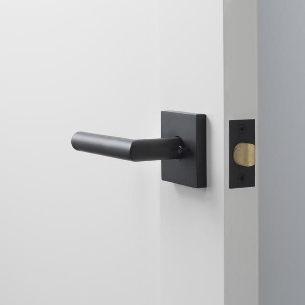 Berlin Door Set with Otto Lever - Flat Black #schoolhouseelectric