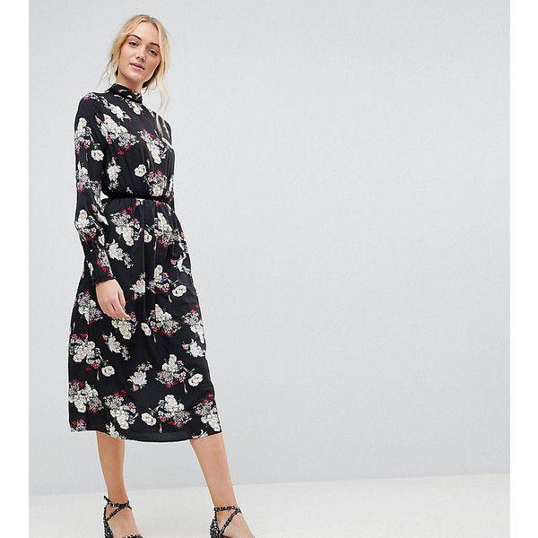 Tie Detail Floral Smock Dress - Black floral Influence Best Seller Online 2018 New pYmrWK6