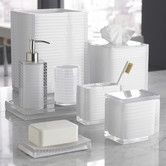 Found it at Wayfair - Mar-A-Lago Stripe Bath Accessory Collection in White