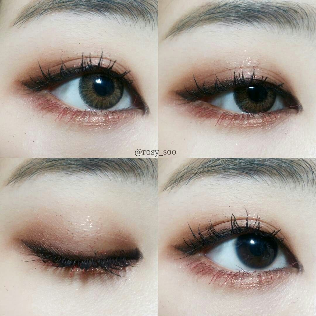 Pin by sarocha saeher on make up Korean eye makeup
