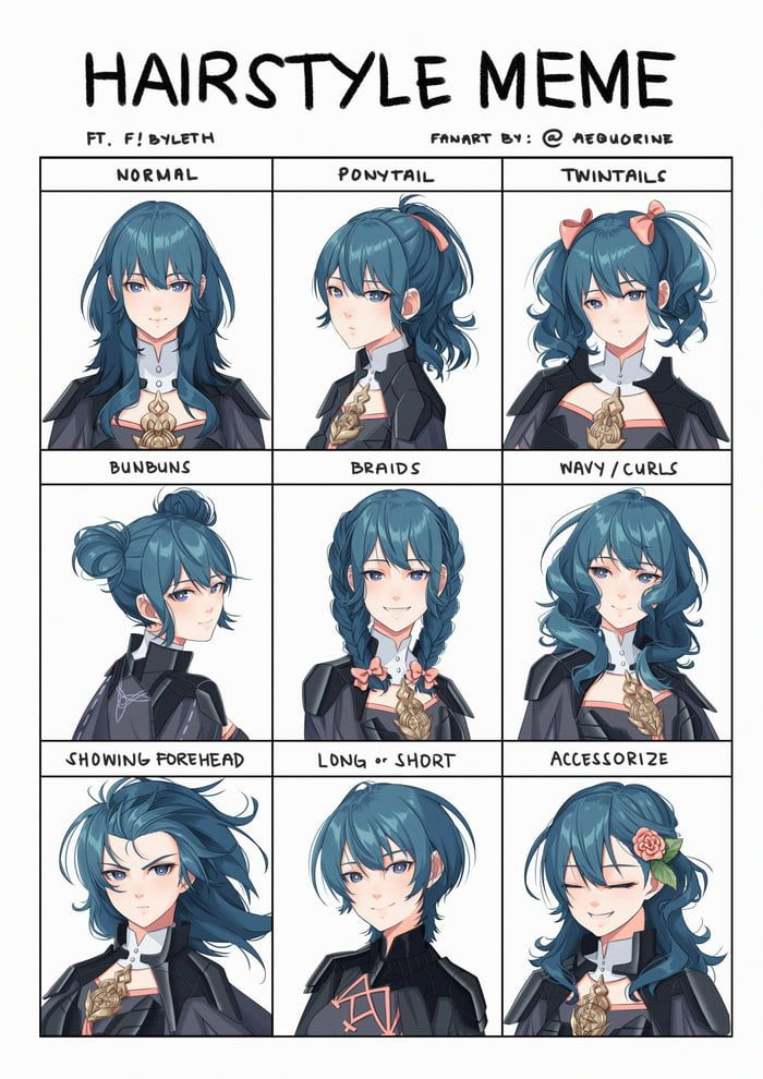 Photo of Byleth's hairstyles