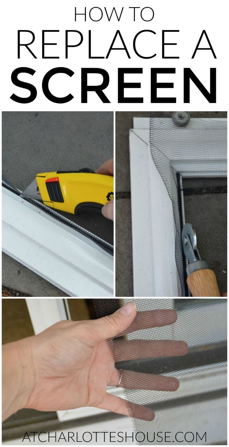 How To Replace The Screen In A Screen Door Or Window Pinterest