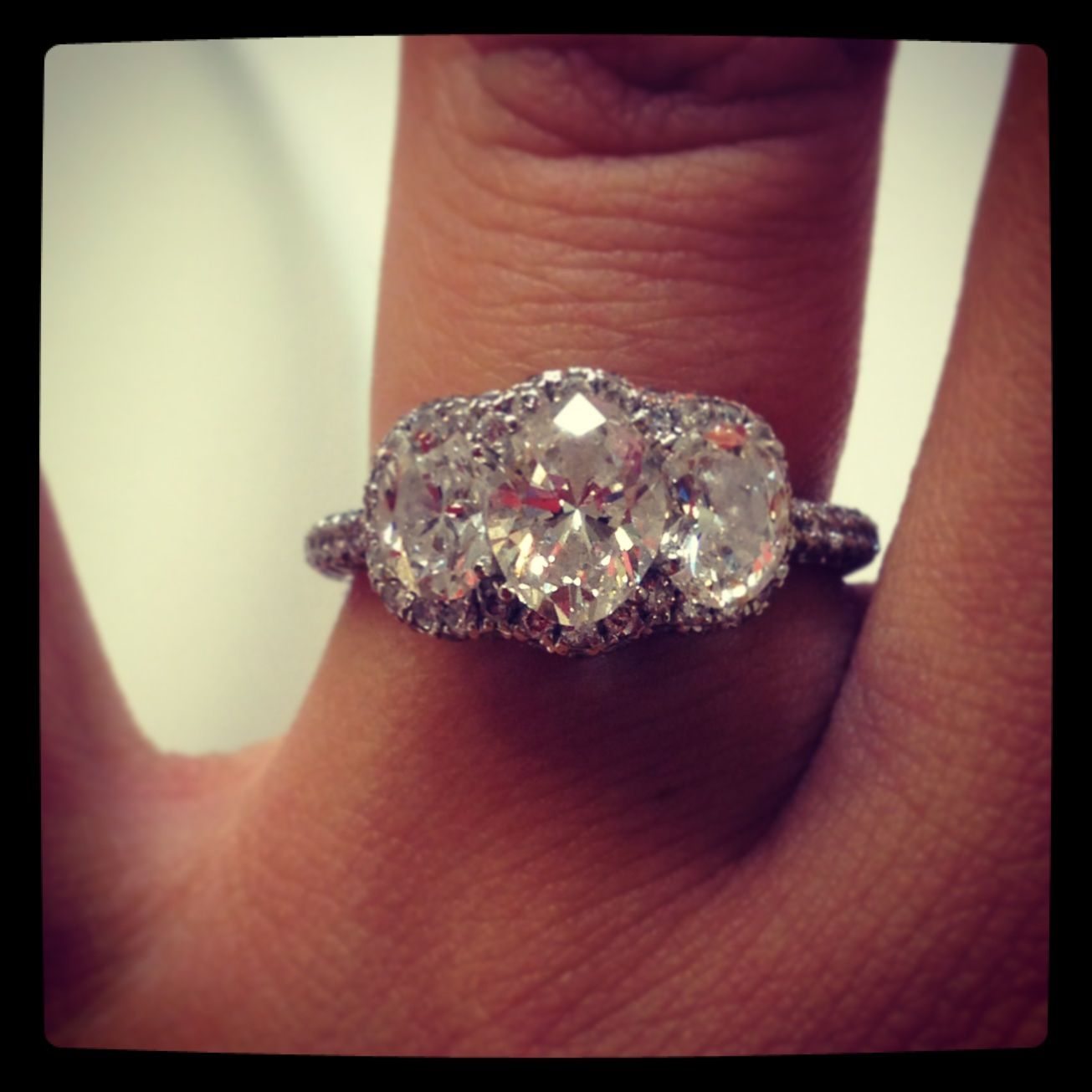 Love my engagement ring  2 3 carat Neil lane 3 stone engagement ring
