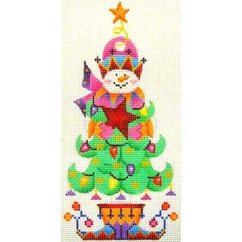 Snowman Tree miscellaneous needlepoint Pinterest Snowman tree