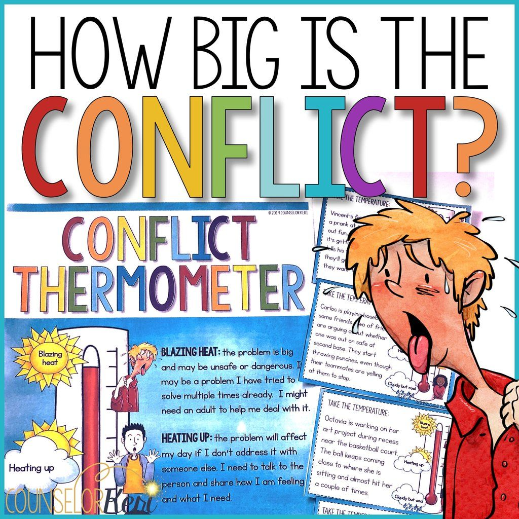 How Big Is The Problem Conflict Thermometer Classroom
