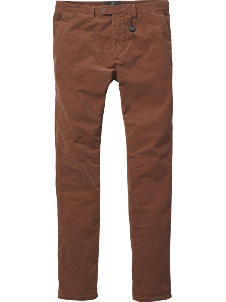 Bowie - Slim fitted rib cord/ spandex chino - Pants - Scotch & Soda Online Shop